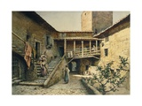 The Courtyard in Anguillara Palace in Rome, from the Series Disappeared Rome Giclee Print by Ettore Roesler Franz