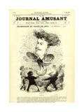 Promenade at the Salon of 1870, Front Cover of the 'Journal Amusant', 21 May 1870 Giclee Print by Charles Albert d'Arnoux Bertall