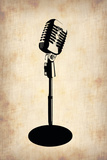 Vintage Microphone Plastic Sign by  NaxArt