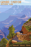 Grand Canyon National Park - Bright Angel Trail Wall Sign