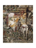 Borso D'Este Departing for Hunt, Scene from Month of March, Ca 1470 Giclee Print by Francesco del Cossa