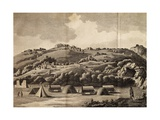 Heere Camp, Engraving from Journey into Africa, 1783-1785 Giclée-Druck von Francois Le Vaillant