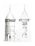 Drawing from 'Dictionnaire Raisonné De L'Architecture Française Du XIe Au XVIe Siècle', 1861 Giclée-Druck von Eugene Emmanuel Viollet-le-Duc