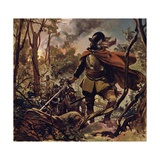 Raleigh Burned Down a Spanish Settlement in Revenge for the Death of His Son Giclee Print by Alberto Salinas