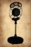 Vintage Radio Microphone Plastic Sign by  NaxArt