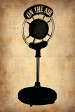 Vintage Radio Microphone Plastic Sign