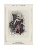Une Citoyenne, Preposee a La Garde De La Rue De Lille, Faubourg St-Germain Giclee Print by Charles Albert d'Arnoux Bertall
