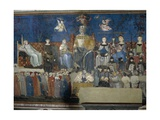 Allegory of Good Government Giclee Print by Ambrogio Lorenzetti