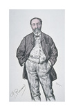 Portrait of the French Composer and Music Critic Charles Camille Saint-Saens Giclee Print by Charles Paul Renouard
