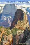 Zion National Park - Angels Landing Wall Sign