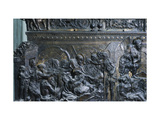 Christ Laying in His Tomb, Detail from the Left Pulpit, Basilica of St Lawrence, Florence Giclee Print by Donatello