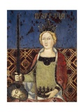 Allegory of Good Government, Justice Giclee Print by Ambrogio Lorenzetti