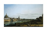 Dresden from Right Bank of Elbe Upstream from Bridge of Augustus, Circa 1750 Giclee Print by Bernardo Bellotto
