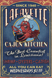 Lafayette, Louisiana - Cajun Kitchen Plastic Sign by  Lantern Press