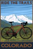 Mountain Bike - Colorado Kunststof bord van  Lantern Press
