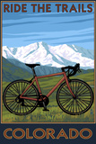 Mountain Bike - Colorado Plastic Sign by  Lantern Press
