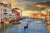 Venetian Sunset Wall Sign by  Maugli-l