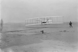 Orville Wright on First Flight at 120 feet Photograph - Kitty Hawk, NC Plastic Sign by  Lantern Press