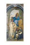 Virgin Appearing to St Catherine of Siena, Rosa of Lima and Agnes of Montepulciano Giclee Print by Giambattista Tiepolo