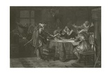 Henry Hudson Receiving His Commission from the Dutch East India Company, 1609 Giclee Print by Alonzo Chappel