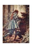 Once When Attacked by a She-Bear He Choked Her with His Bare Hands Giclee Print by Arthur C. Michael