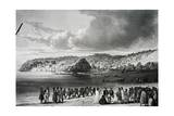 Beach at Korora-Reka Giclee Print by Cyrille Pierre Theodore Laplace