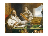 St Albert the Great and St Thomas of Aquinas, Detail Giclee Print by Alonso Antonio Villamor