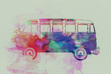 VW Bus Watercolor Wall Sign