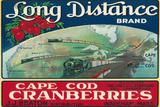 Wareham, Massachusetts, Long Distance Brand Cape Cod Cranberry Label Plastic Sign by  Lantern Press