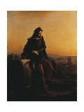 Cola Di Rienzo, Contemplating the Ruins of Rome from Above, 1855 Giclee Print by Federico Faruffini