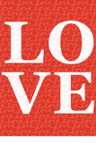 Red Love Plastic Sign