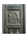 Italy, Florence, Church of San Lorenzo, Old Sacristy, Door with Bronze Relief, 1435-1443 Giclee Print by Donatello