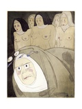 Illustration from 'Les Contes Et Nouvelles En Vers De Jean De La Fontaine' Giclée-trykk av Charles Martin