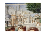 Architecture of City of Rome, Detail from Stories of St. Augustine, 1465 Giclee Print by Benozzo Gozzoli