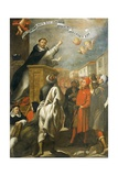 St Vincent Ferrer Preaching to the Young People of Salamanca Giclee Print by Alonso Antonio Villamor