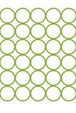 Green Circles Plastic Sign