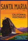 Santa Maria Vegetable Label - Santa Maria, CA Plastic Sign by  Lantern Press