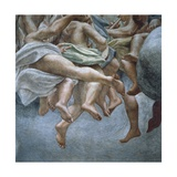 Angels, Detail of Frescoes from Section of Abraham and Isaac, from Dome of Parma Cathedral Giclee Print by Antonio Allegri Da Correggio