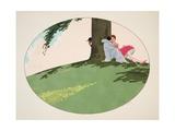 Les Cinq Sens - L'Ouïe, La Vue, L'Odorat, Le Toucher Et Le Goût, Pub. Paris, 1925 Giclee Print by Ettore Tito