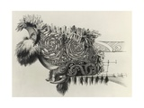 Decorated Prow of War Canoe Belonging to Maori Chief Rauparaha Giclee Print by George French Angas