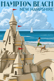 Hampton Beach, New Hampshire - Sand Castle Wall Sign