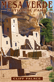 Mesa Verde National Park, Colorado - Cliff Palace Wall Sign by  Lantern Press