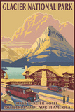Many Glacier Hotel, Glacier National Park, Montana Wall Sign by  Lantern Press