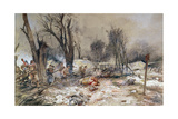 American Infantry Attack on 18th July 1918 During the Aisne-Marne Counter Offensive Giclee Print by Francois Flameng