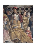 Barbara of Brandenburg with Her Daughter Paula and Rodolfo Gonzaga, Detail from Court Wall Giclee Print by Andrea Mantegna