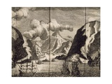 Ships Near Spitzbergen, Engraving from Voyage to Spitzbergen, 1671 Giclee Print by Frederic Martens