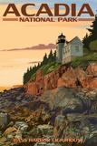 Acadia National Park, Maine - Bass Harbor Lighthouse Wall Sign