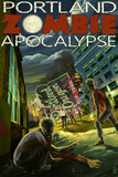 Portland, Oregon - Zombie Apocalypse Wall Sign