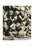 The Last Judgment and Damned, Detail from Pergamon or Pulpit Giclee Print by Nicola Pisano