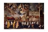 Procession to Transfer the Relics of the Holy Bishops to the Old Cathedral of St Peter, 1656 Giclee Print by Francesco Maffei